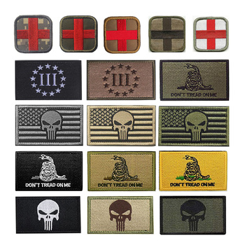Velcro patch Stick-on Outdoors Tactical Morale 3D Badges Embroidered Sticker Appliques for Hat Backpack Patches Cloth Decoration wholesale 50 100 pieces military pvc patches velcro rubber armband 3d tactical badge patches for backpack hat clothes jacket