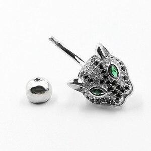 Image 5 - 925 Sterling Zilver Belly Button Ring Mode Luipaard Stijl Navel Piercing Lichaam Sieraden Voor Gift
