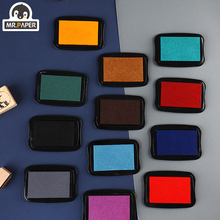 Mr Paper 12 Colors Vintage Style Handmade DIY Craft Oil Based Ink Pad for Fabric Wood Paper Scrapbooking Ink pad Finger Painting