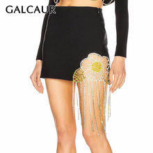 Женская юбка с кисточками galcaur повседневная облегающая мини