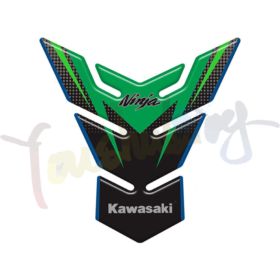 For KAWASAKI <font><b>NINJA</b></font> 250 300 <font><b>400</b></font> 650 1000 ZX6R ZX10R Motorcycle Carbon Fiber <font><b>Oil</b></font> Fuel Gas Tank Pad Tankpad Decal Protector Sticker image