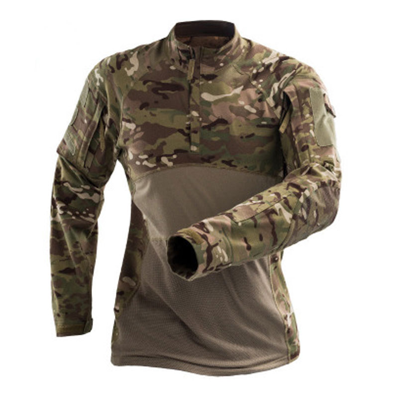 US Style Combat Army Military Mens Long Sleeve T-Shirt Woodland Camouflage S-XXL