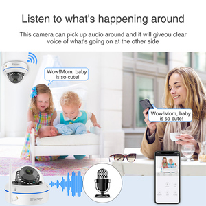 Image 4 - Techage 8CH 1080P Draadloze Nvr Kit Cctv Security System Audio Record 2.0MP Indoor Dome Wifi Ip Camera P2P Video surveillance Set
