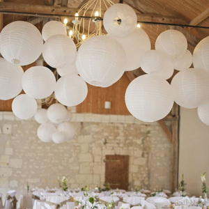Image 4 - 30pcs/Lot Mix Size (15cm,20cm,25cm,30cm) White Paper Lanterns Chinese Paper Ball Lampion For Wedding Party Holiday Decoration