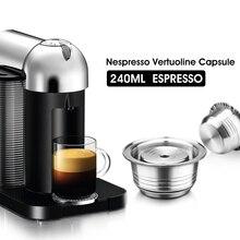 Stianless Steel Reusable Big CUP (G2) Nespresso Vertuoline Coffee Capsule Filter Espresso For Vertuo GCA1& Delonghi