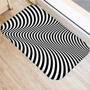 Image 5 - 40*60 センチメートル視覚誤差幾何非スリップスエードカーペットドアマットキッチンリビングルームのフロアマットホームベッドルーム装飾フロアマット。
