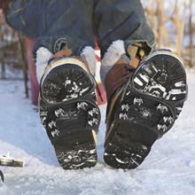 25 # antypoślizgowe chwytak do lodu Spike chwytaki uchwyty do śniegu buty zimowe buty pasek metalowe szpilki szpilki uniwersalny pokrowiec na buty wspinaczka tanie tanio MUQGEW CN (pochodzenie) Metal+Rubber