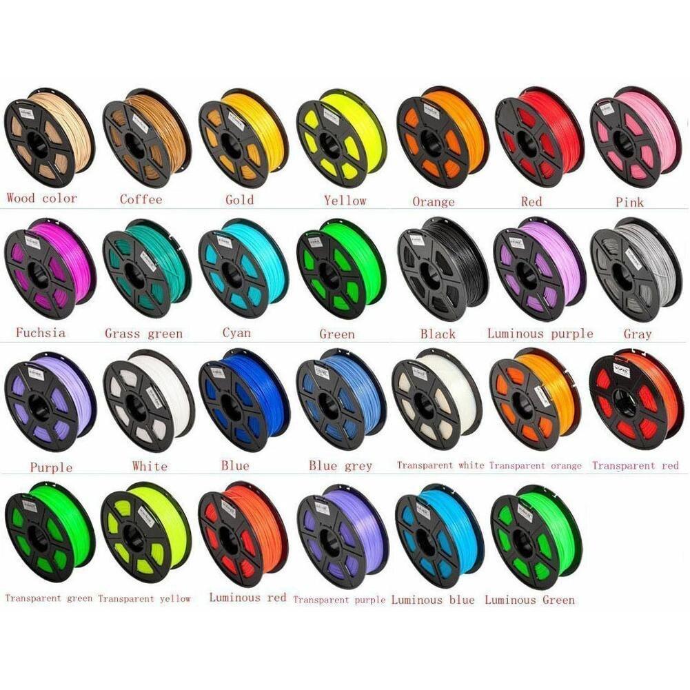 Pluma de impresión 3d ABS/PLA de 17 colores suministros de Material de impresión de goma de plástico de 1,75mm para filamento de pluma de impresora 3d