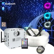 Bluetooth app 32w rgb cintilação de fibra óptica céu estrelado efeito luz teto kit 835 fios *(0.75mm + 1mm + 1.5mm)* 4/5m de fibra óptica