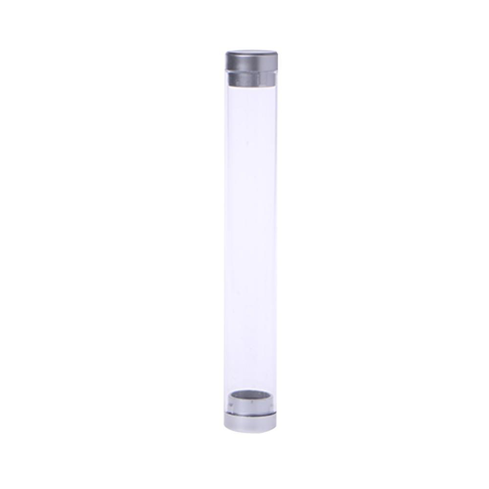 Transparent Cylinder Case Pen Storage Box Stationery Organizer School Office Use