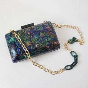 Image 3 - Новый модный аксессуар, женская сумка, винтажная яркая мраморная сумка для вечевечерние НКИ, выпускного вечера, сумка для вечеринки, роскошная женская сумка для вечеринки, Повседневная коробка, клатч, кошелек