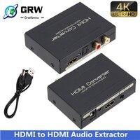 Grwibeou Audio Extractor Converter Naar Hdmi-Compatibel Spdif Optische Rca Adapter Ondersteuning 5.1CH Formaat Output Hdmi Audio Splitter