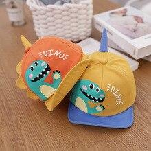 Hat Toddler Baseball-Cap Snapback Dinosaur Baby-Boys-Girls Children Bonnet Kids Cartoon