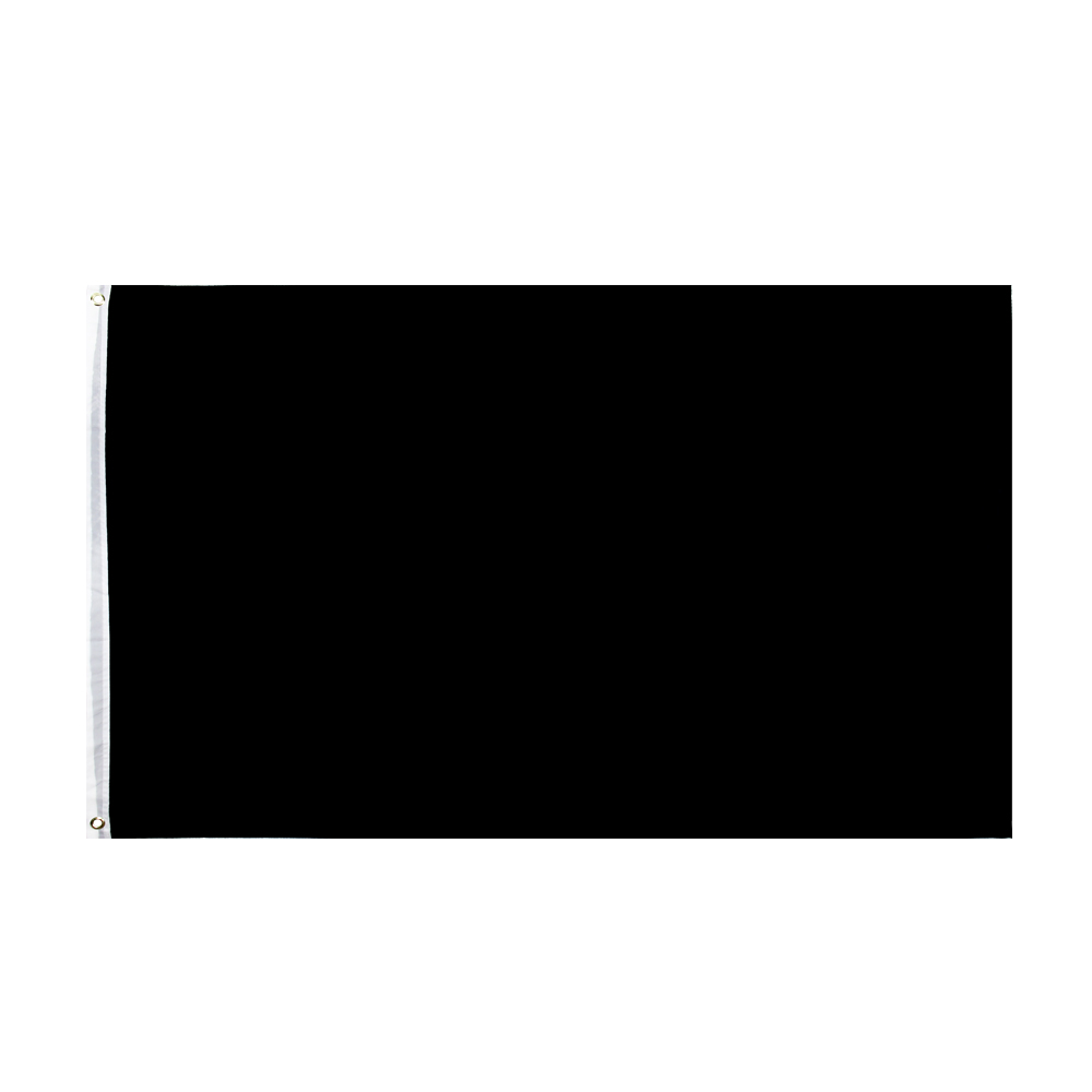 90X150cm Black Flag Solid Color banner