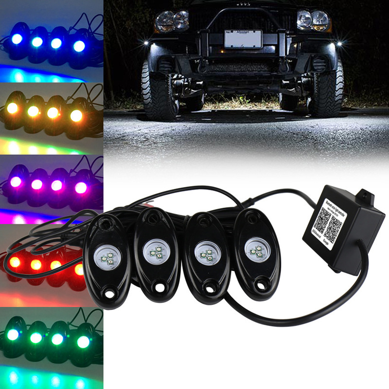 Chassis Lights Yituo Four Car Lights App Control RGB Atmosphere Four Chassis Lamp Lights Went On