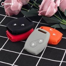 KEYYOU الرياضة نمط سيليكون 2 أزرار حافظة مفاتيح يغطي قذيفة لهوندا CR V سيفيك صالح فريد StepWGN مفتاح شحن مجاني