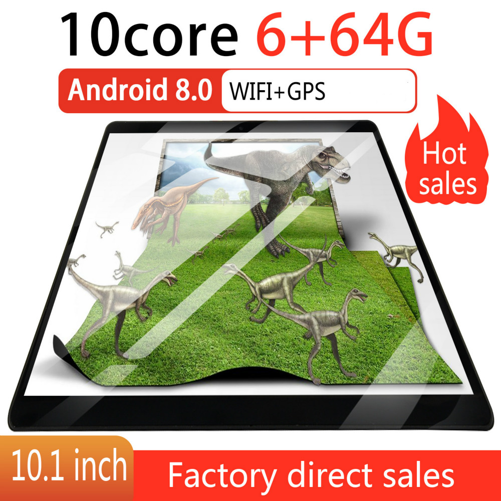 2020 HD IPS 2.5 Screen 10 Inch  Android 8.0 WiFi Tablet PC Dual SIM Call Phone Tablet 6GB+16GB/64GB