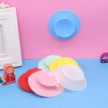 Anti-gota de sucção-prova de silicone base de tigela fixa dupla face almofada de copo pratos das crianças placa de jantar utensílios de mesa alimentação sólida