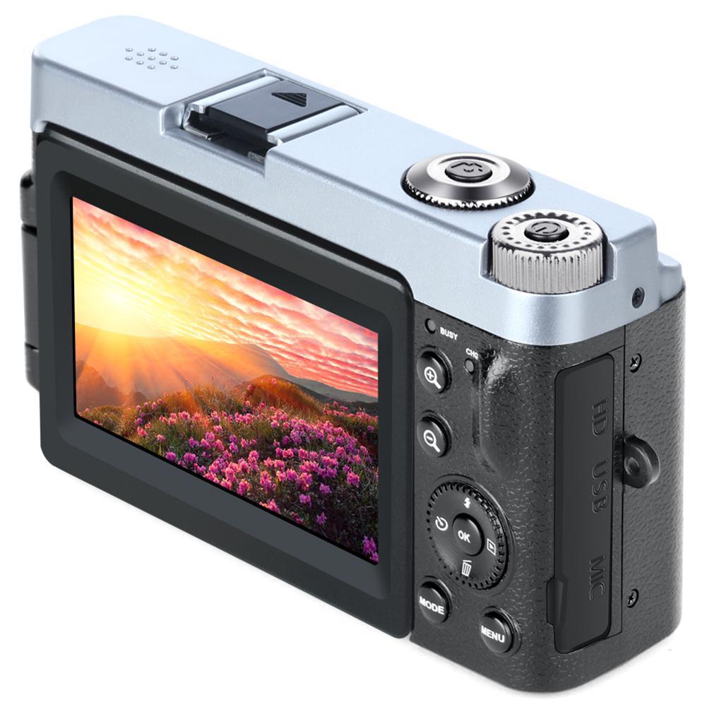 KOMERY, Новое поступление, цифровая камера 3,0 дюймов, ЖК дисплей, флип экран, 4 K, видеокамера, 16X, цифровой зум, поддержка Wi Fi, HD выход, селфи камера - 3