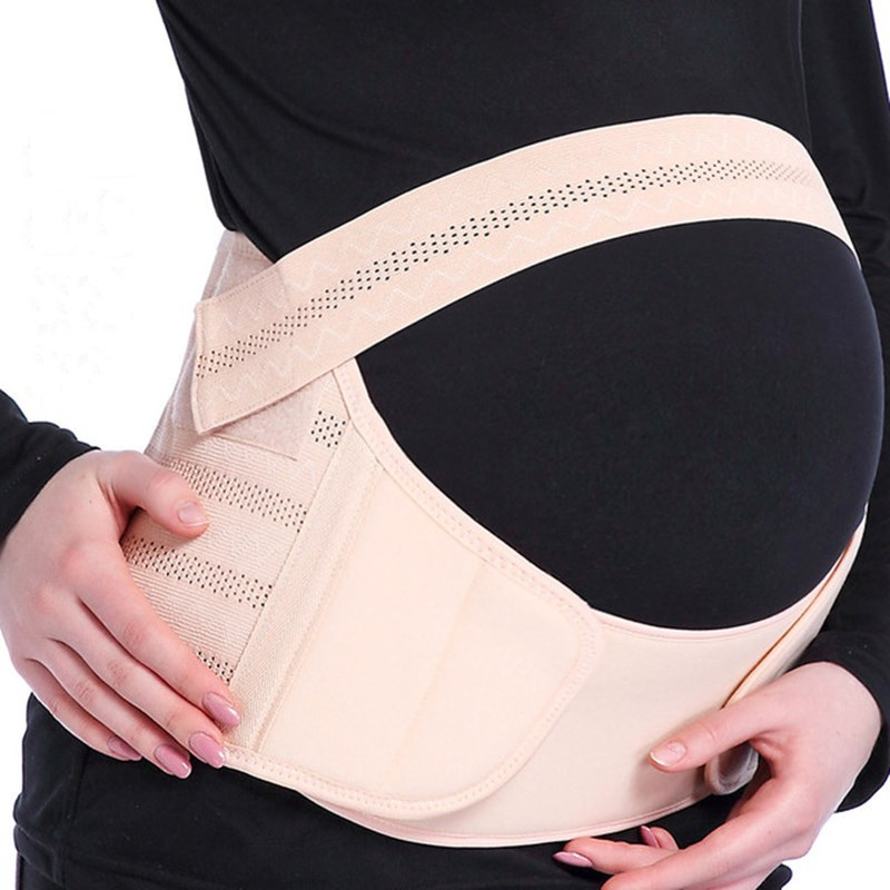 Dexinx Maternity Belt Pregnancy Support Belt Breathable Belly Band Adjustable Care Breathable Abdomen Support Comfortable Belly Band for Pregnancy