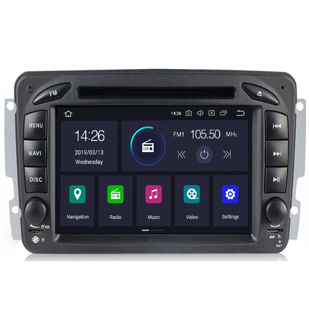 2 Din Android 9.0 Car DVD <font><b>Radio</b></font> Player car stereo gps <font><b>navi</b></font> For <font><b>Benz</b></font> <font><b>W203</b></font> W208 W209 W210 W463 Vito Viano with wifi bt swc dab+obd image