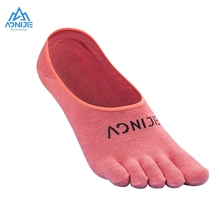Aonije 1Pair Quick Drying Invisible Sokken Ultralight Running Five Toes Socks with Silicone Anti-Skid for Outdoor Marathon E4803