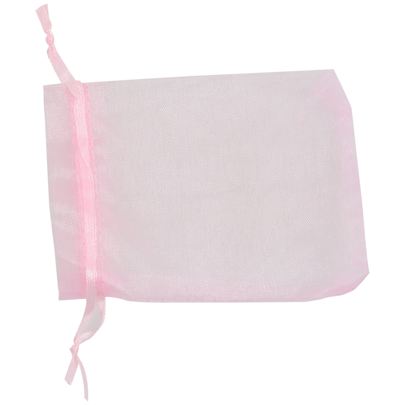 Organza Wedding Party Favor Gift Candy Sheer Bags Jewelry Pouch, 50 Pcs 4inch X 6inch (10x15cm) Pink