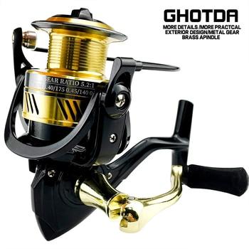 Ghotda Fishing Reel DW2000-7000 Drag 8kg Metal Spool Handle Spinning Reel Saltwater Carp Reel Fishing