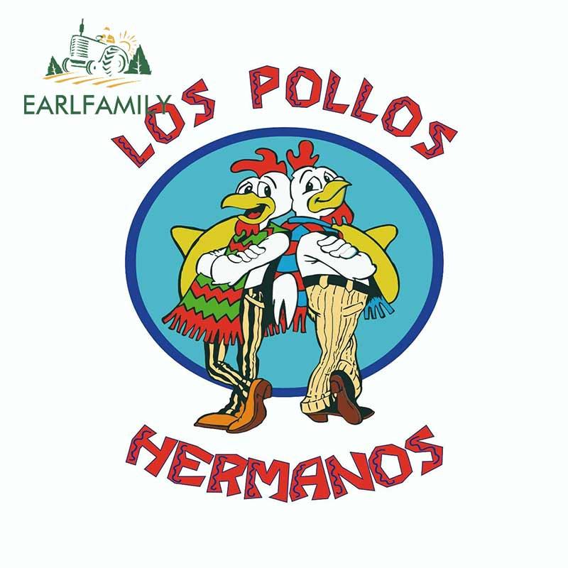 EARLFAMILY-pegatina de vinilo para decoración de portátil, para Los Pollos, maletero, coche, parabrisas, refrigerador, 13cm x 10,4 cm