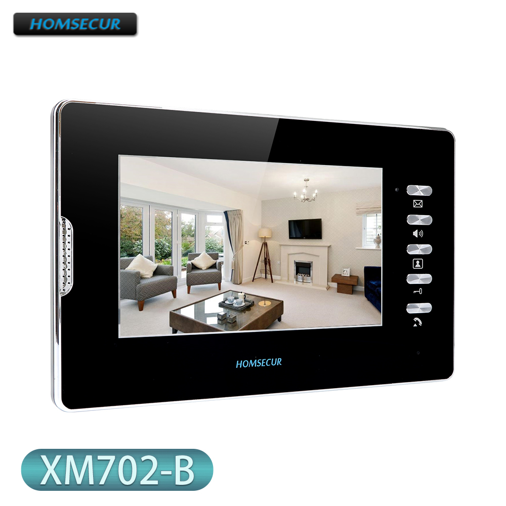Intercom Monitor XM702-B with 7inch Screen for HOMSECUR HDS Series Video Door Phone Intercom System