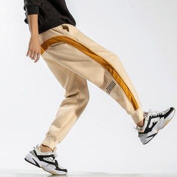 2020 ANKLE-LENGTH Sweatpants Streetwear Spring Autumn Hip Hop Harem Pants Mens Casual Korean Oversize 5XL 6XL Joggers Trouers - 28 W INCH USA SIZE, QD802 C