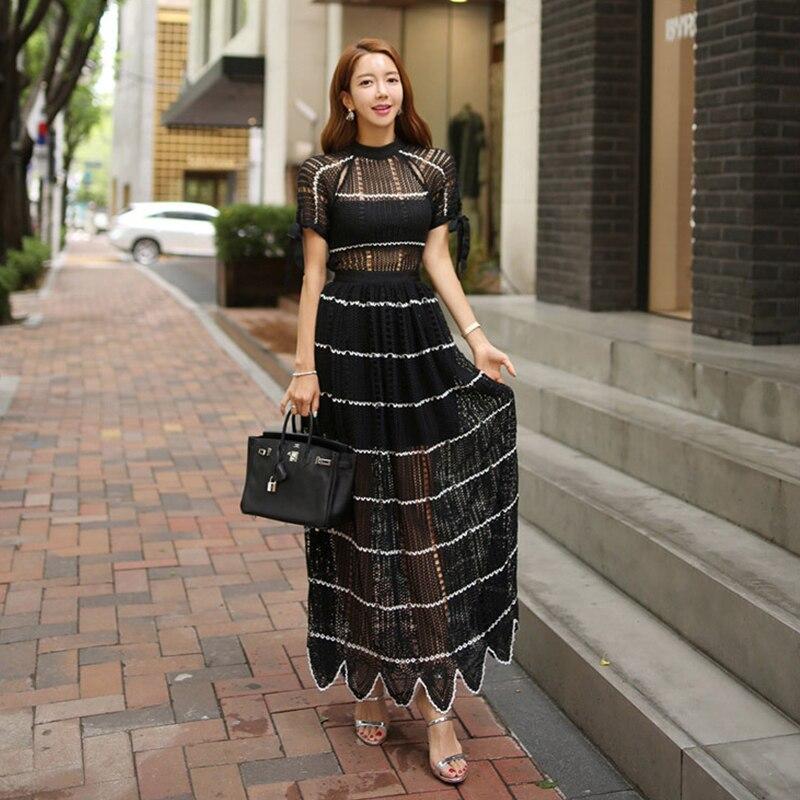 Mode femmes nouveauté perspective évider robe partie de haute qualité confortable doux décontracté extérieur élégant a-ligne robe