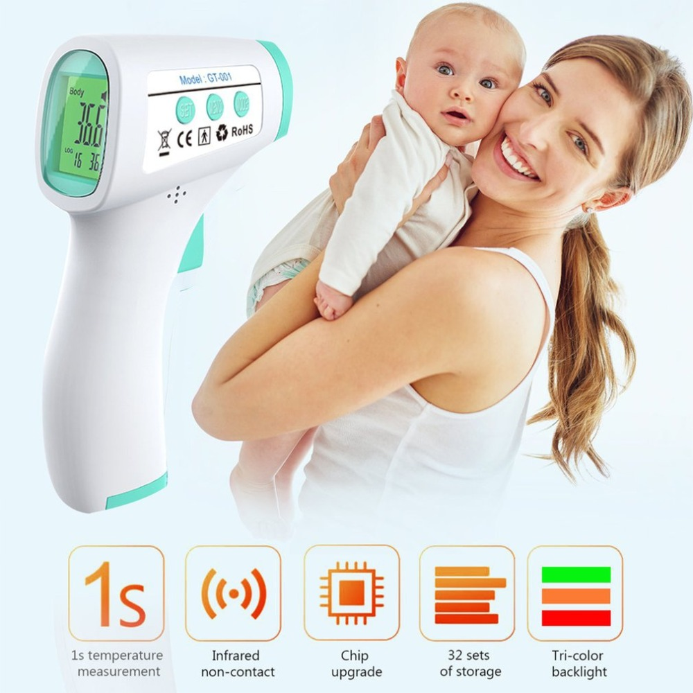 2020 Infrared Human Temperature Detector Portable Infrared Forehead Digital Thermometer Electronic Detector