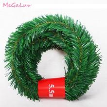 5.5M Pine Needle Rattan Vine Christmas Pendant Decoration Ornaments Xmas Party Hanging Tinsel Green Leaf Garden Xmas