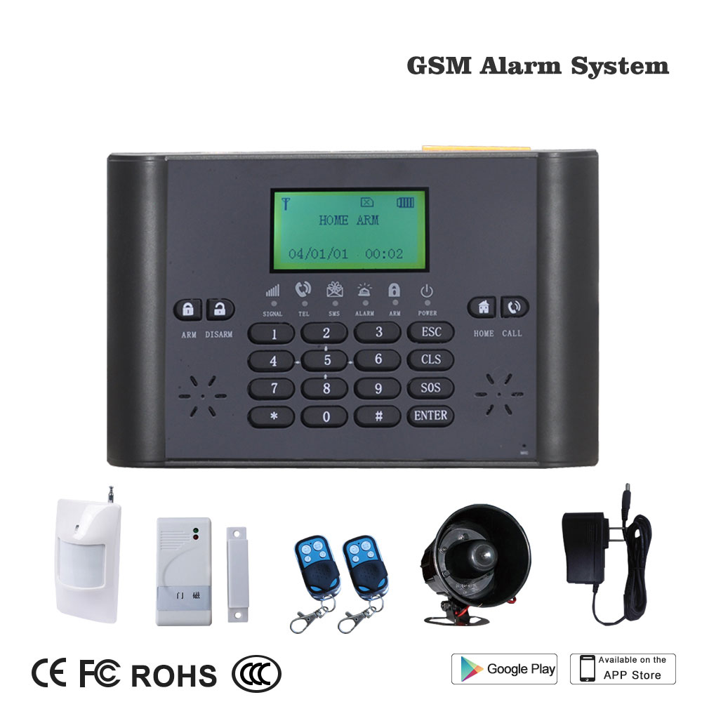 Smart Home Wireless GSM Burglar Alarm Security System LCD Fire/Door Detector Anti theft Timing Arm/Disarm Alert Push To Mobile - 2