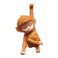 Small Monkey On The Tree Decorate Pendant Gardening Scenery Hanging Ornaments Originality Lovely A Living Room Home Furnishing
