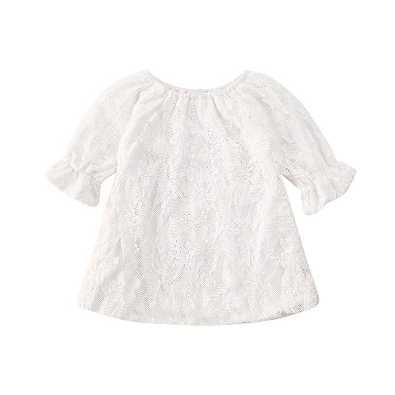 Новинка года; летняя футболка с короткими рукавами и круглым вырезом для маленьких девочек; белая кружевная футболка с цветочным рисунком Футболка хлопковая Детская летняя футболка; Топ