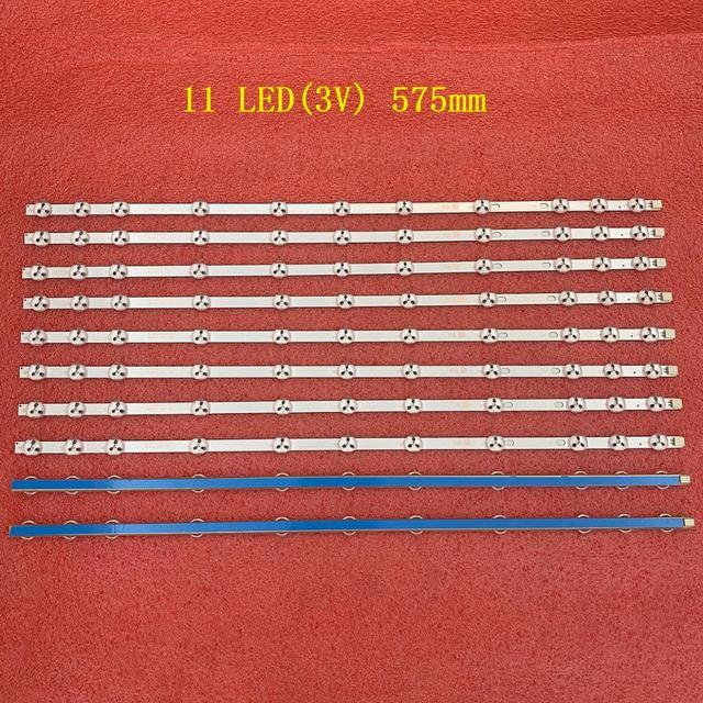 10 teile/los 11LED led hintergrundbeleuchtung streifen für VESTEL 17DLB32NER1 32 NDV 32D1334DB VES315WNDL 01 VES315WNDS 2D R02 VES315WNDA 01