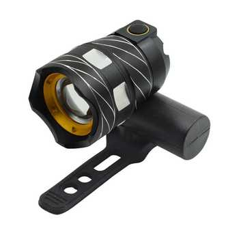Outdoor Riding Bicycle Front Light 15000lm Bike T6 LED Zoomable Safety Flash Light Bicycle Headlight USB rechargeable bike lamp rechargeable 12000mah battery 60000lm 16x xml t6 led 3modes bicycle light led bike front light headlight lamp bike accessories