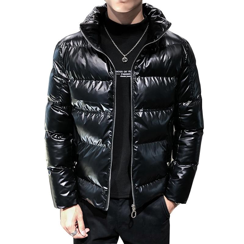 2019 Men Winter Jacket Warm Thicken Jackets And Coats Windbreaker Parkas Fashion Overcoat Streetwear Hiphop Clothing Erkek Mont