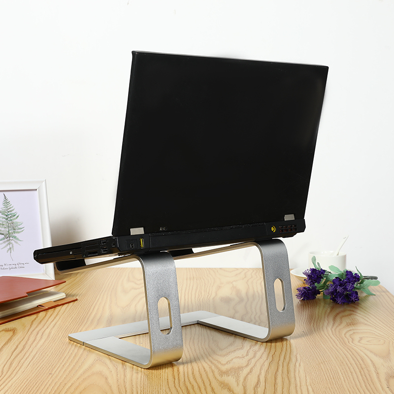 Laptop <font><b>Stand</b></font> Holder Aluminum Alloy <font><b>Notebook</b></font> Support Bracket Riser Holder with <font><b>Cooling</b></font> for Macbook Air Portable Computer <font><b>Stand</b></font> image