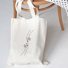 Moda tumblr bolsas de ombro feminino grande lona casual bolsa harajuku ins engraçado livro saco dos desenhos animados do vintage eco reutilizável bolsa