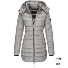 Zogaa 2019 Women's Parkas Winter Hooded Warm Coat Solid Slim Fit Cotton Padded J