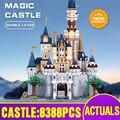16008 обновленная версия игрушки из фильма совместимы с 71040 Золушка Принцесса Райский замок строительные блоки Дети рождественские игрушки
