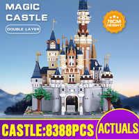 16008 verbesserte Version Film Spielzeug Kompatibel Mit Legoing 71040 Cinderella Prinzessin Burg Bausteine Kinder Weihnachten Spielzeug