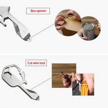 24 em 1 aço inoxidável mini multifuncional chave de fenda chave de fenda chave de fenda abridor de garrafa ferramenta de reparo de bolso