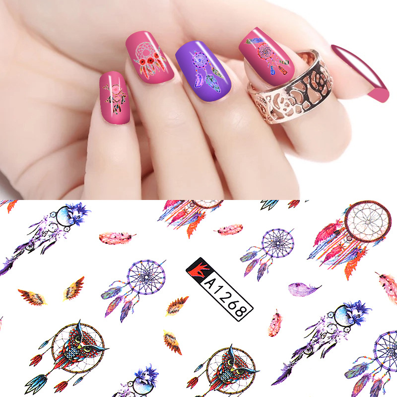 Cross Border For Nail Sticker Manicure Watermark Stickers Japanese Korean Popular Nail Decals 12 Mixed-Stickers