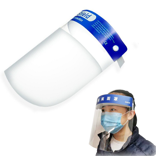 Splash-proof Dust-proof Mask Head-mounted Transparent Protect Mask Adjustable Protective Face Shield Anti Droplet Full Face Mask 5