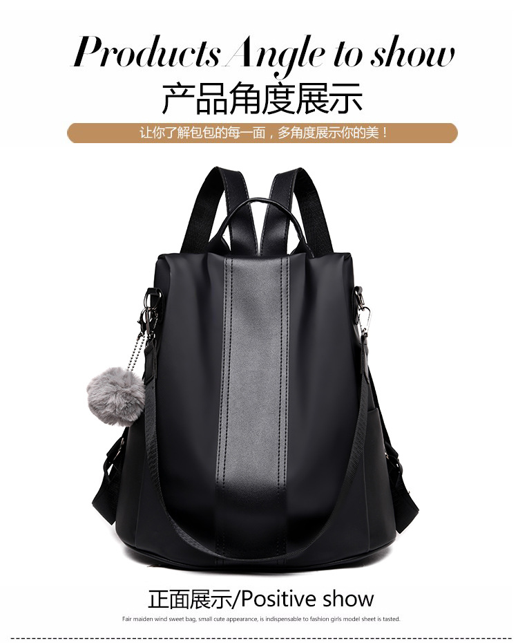 Hb0f7ce95282043329c527ef8bb8be363X 2019 Women Leather Anti-theft Backpacks High Quality Vintage Female Shoulder Bag Sac A Dos School Bags for Girls Bagpack Ladies