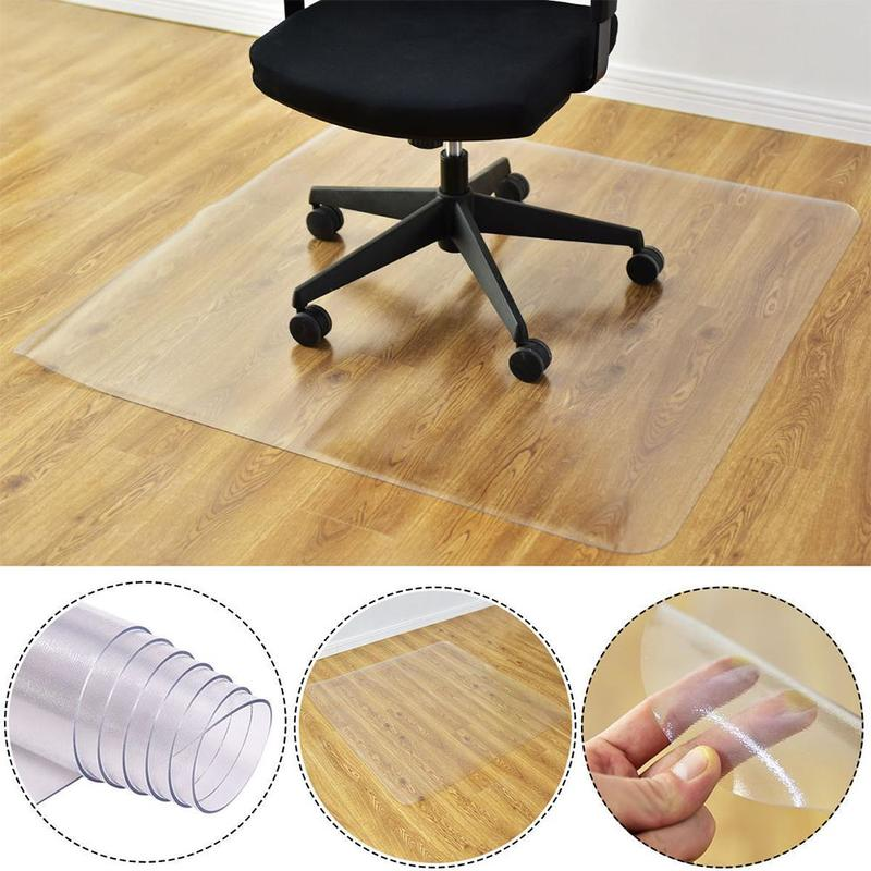 PVC Transparent Waterproof D' Water Rectangular Pad Wooden Floor Mat Computer Chair Seat Protection Plastic Soft Carpet Rug